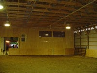 Another shot of the riding arena and elevated viewing room