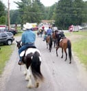 Farmington Parade, Headliner, Gypsy Vanner stallion owned by N'co Gypsy Vanners, Drum Horse Guinness and Gypsy Horse Molly all participated.