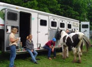 Trish, Vonnie, Daniel adn Rhonda ride for a good cause. Angel adn Molly were the only Gypsy horses there!