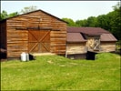 A rear shot of our Breeding Barn and a partial shot of the foaling paddock.